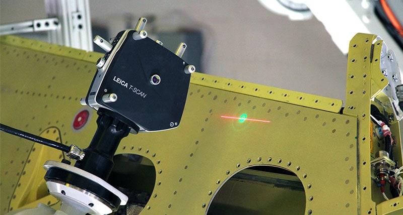 применение лазерного трекера в авиастроении