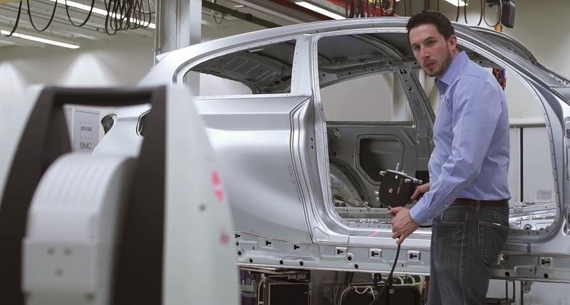 применение лазерного трекера в автомобильной промышленности