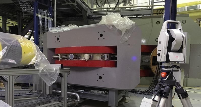 применение лазерного трекера в отрасли ядерных исследований