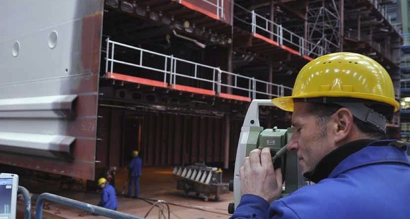 применение лазерного трекера в судостроении