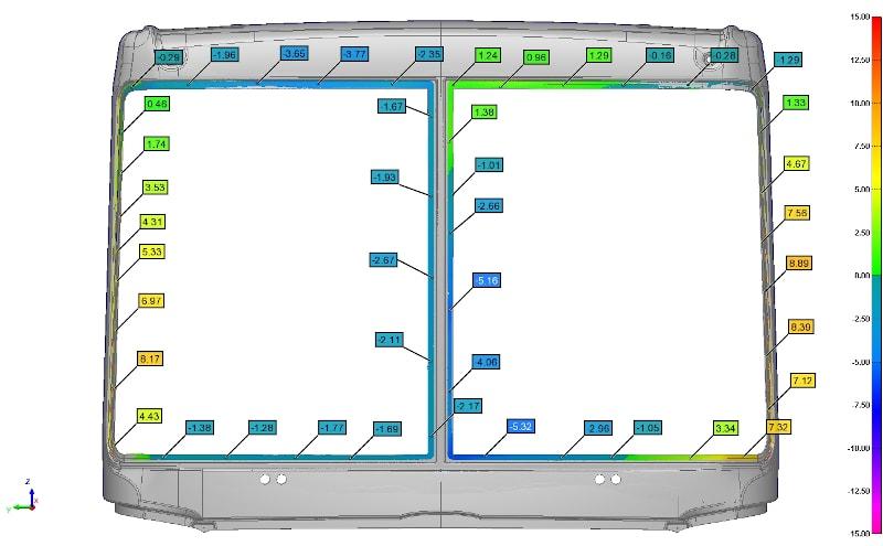 Виртуальная сборка и зазоры лобового стекла и облицовки кабины